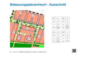 Ausschnitt Bebaungsplantentwurf Franzenbrunnen 2. BA