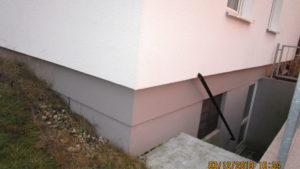 Wärmedämmverbundsystem endet mit Oberkante Kellerdecke