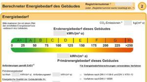 Ausschnitt Energieausweis Bedarf